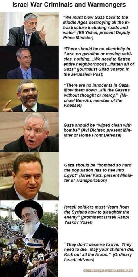 Hate-speaches-of-Israeli-governments-and-figures!