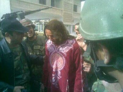 Syrian-army-arrested-a-terrorist-man-dressed-as-women