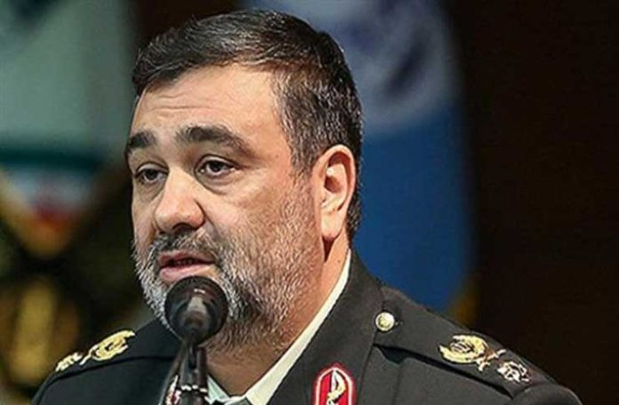 Brigadier General Hossein Ashtari, the chief of Iran's Law Enforcement Forces